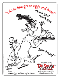 seuss birthday coloring pages