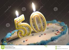 50th birthday cake stock images image 21847804