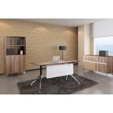 office desk with credenza gothenburg 55 in walnut modern desk eurway furniture
