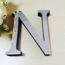 letters home decor wedding english love letters home decor 3d mirror wall stickers