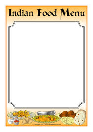 menu templates menu writing frames and printable page borders ks1 ks2 sparklebox