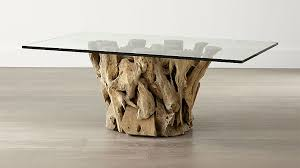 round glass cocktail table driftwood coffee table with rectangular glass top reviews crate