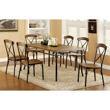 furniture america crosby dining table bronze finish