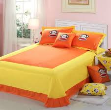 Funny Duvet Sets Free Shipping Orange Bedding Set Cute Orange Monkey Bedding Sets
