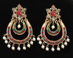 danglers earrings design beautiful gold pearl dangler designer chand bali