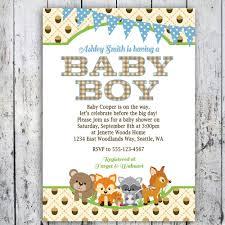 Virtual Baby Shower Invitations Woodland Baby Shower Invitations Boy Woodlands Invite Printable