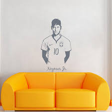 neymar junior soccer wall sticker sports football player wall
