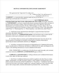10 confidential disclosure agreement templates u2013 free sample
