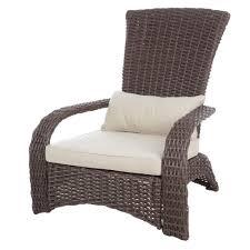 Brown Wicker Patio Furniture Patio Sense Deluxe Coconino Wicker Chair 62172 The Home Depot