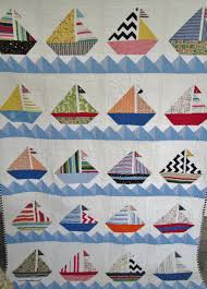 sailboat quilt nautical cottage quilt lake by dreamyvintagesheets