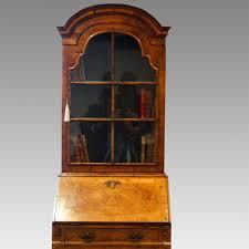 image bureau antique walnut bureau bookcase hingstons antiques dealers