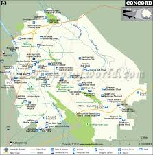 concord california map concord map city map of concord california