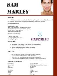 Best Resume Template by Updated Resume Format 2016 Updated Structure Basic Resume Examples