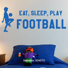 Football Wall Murals by Wall Sticker Picture More Detailed Picture About Eat Sleep Play