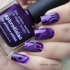 Diy Easy Halloween Drag Marble Nails Design Cute Dry Nail Art by Sveta Sanders Nail Nail Instagram And Purple