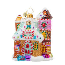 radko 1017747 sweet factory factory gingerbread house