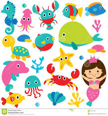 marine clipart ocean animal pencil and in color marine clipart