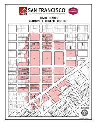 Union Square San Francisco Map by Civic Center Office Of Economic And Workforce Development