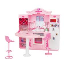 dollhouse furniture kitchen doll furniture toy full kitchen with refrigerator play set for