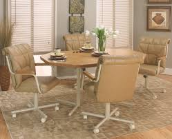 dinette table with caster chairs home chair decoration