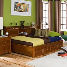 Zayley Bookcase Bedroom Set Bedroom Brown Wooden Full Daybed With Storage Drawers And Shelves