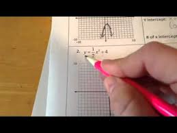 graphing parabolas in vertex form worksheet youtube