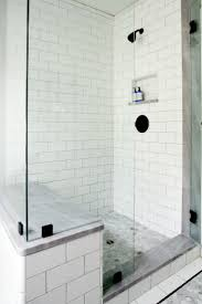 Beveled Subway Tile Shower by Best 25 Shower Seat Ideas On Pinterest Showers Shower Bathroom