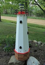 amish made island model wooden garden lighthouse 17 best