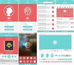 mobile app template collection vector free download