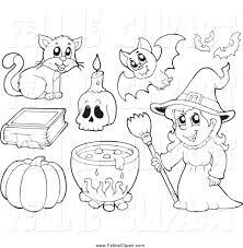 halloween clipart black white free halloween witch clip art 53