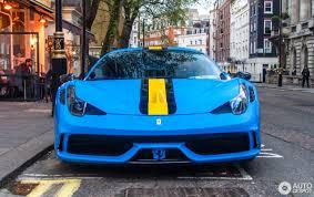 Ferrari 458 Blue - ferrari 458 speciale 3 may 2017 autogespot