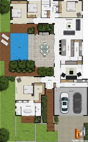 House Plans With Courtyard by 51 Best Floorplan W Courtyard Images On Pinterest Courtyard
