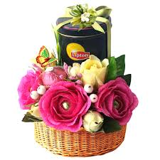 basket gifts lipton tea gift basket with raffaello rocher chocolate handmade