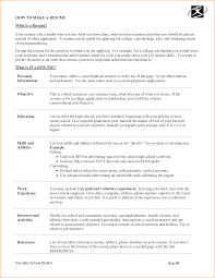 Make A Job Resume by 6 What Does A Job Resume Look Like Basic Job Appication Letter