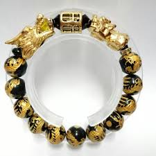 bracelet dragon rainbow images Triple lucky charms bracelet dragons rainbow obsidian gemstones jpg