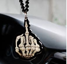 car auto fashion pendant interior skull jdm hellaflush rear view