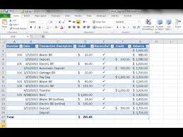 checkbook register for excel create a checkbook register in excel youtube