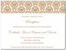 wedding reception invitation template sle wedding invitation reception card modern style
