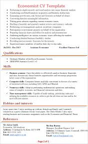 Resume Template Finance Economist Cv Template Tips And Download Cv Plaza