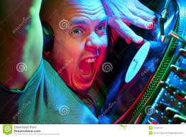 Going Crazy Dj Going Crazy On The Turntables Royalty Free Stock Photo Image