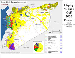 Syria Situation Map by Michael Izady U0027s Amazingly Detailed Map Of Ethnicity In Syria And