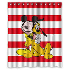 Red Mickey Mouse Curtains Mickey Mouse Shower Curtain Disney Mickey Mouse Graphic Print U