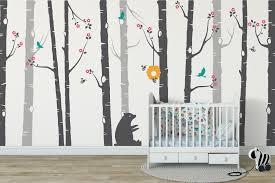 nursery tree wall stickers stunning bear and bumblebee wall stickers nursery tree wall stickers