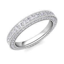 what is milgrain my milgrain diamond anniversary eternity band ring in 18k gold