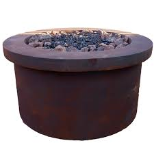 Hanamint Patio Furniture Reviews by Urban Series Fiery Rust Fire Pit Family Leisure