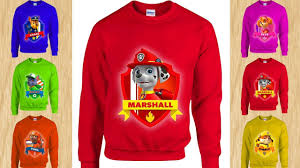 colors paw patrol sweater to learn colors for kids alphabet abc