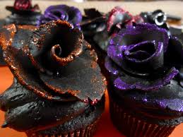 cakes for halloween diary of a mad hausfrau black velvet rose cupcakes for halloween
