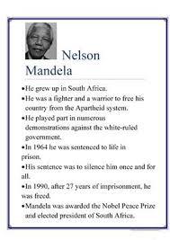 nelson mandela his biography 7 free esl nelson mandela worksheets