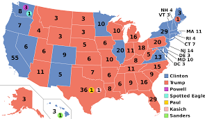 map of us states based on population electoral college united states