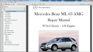 mercedes benz ml 63 amg w164 manual de taller workshop repair